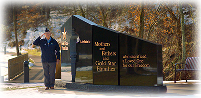 salutes Gold Star Families and Memorial monument