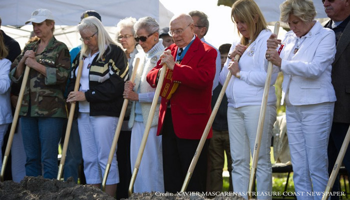 Port St. Lucie FL groundbreaking ceremony for the Gold Star Family Memorial Monument.